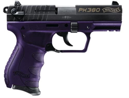 """Walther PK380, .380 ACP, 3.66"""", 8rd, Purple with Black Slide"""