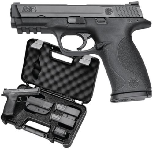 """Smith & Wesson M&P Carry & Range Kit 9mm, 4.25"""" Barrel, 10 lb Trigger Pull, Includes Holster, Mag Pouch, Earplugs, 3 Magazines, Speed Loader, 10 Rounds - MA Compliant"""