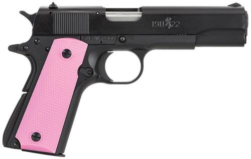 """Browning 1911-22 Black/Pink Composite 22LR 4.25"""" Barrel, Pink Synthetic Grips, 10rd"""