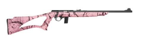 "Mossberg Model 802 Plinkster 22LR 18"" Blued Barrel Sport Grip Synthetic Pink Marble Stock 10rd"