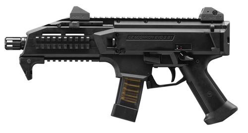 CZ Scorpion Evo 3 S1 Pistol, 9mm, 1/2x28 Threads, 20rd Mags Black