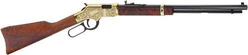 "Henry Golden Boy Deluxe, 17 HMR, 20"", 11rd, Engraved Gold Receiver, Walnut Stock"