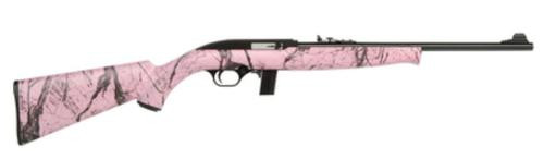 Mossberg Model 702 Plinkster 22LR 18 Inch Barrel Blue Finish Adjustable Sights Pink Marbled Synthetic Stock 10 Round
