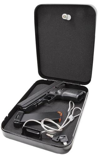 "Hi-Point Home Security Pack 45 ACP Handgun 4.5"" Barrel, Black Poly, Lock Box, 9rd"