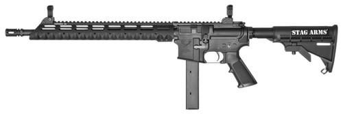 "Stag Arms Model 9TL SA 9mm 16"" 32+1 Prem Sts 6-Pos Stk Blk"