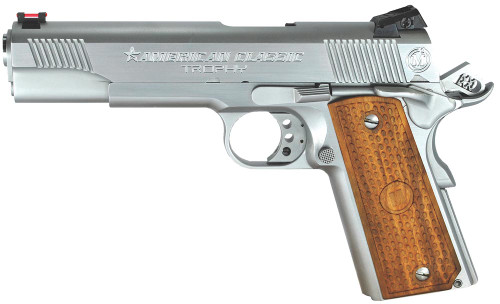 "American Classic Trophy Model, 1911, 45 ACP, 5"" Barrel Hard ChromeFinish Novak Sights 8rd Mag"