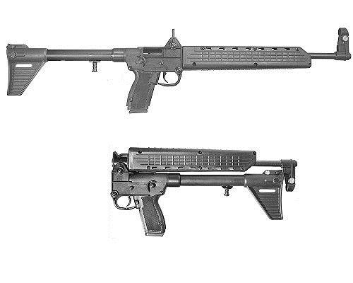 Kel-Tec SUB-K9SIG226 SUB-2000 SA 9mm 16.1 10+1 Uses Sig 226 Mag Syn Stk Black