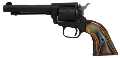 "Heritage Rough Rider 22LR/22 Mag 4.75"" 6rd Cocobolo Grip Black Satin"