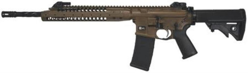 """LWRC IC-A5 Rifle 5.56mm NATO 16"""" Spiral Fluted Barrel Compact Stock Patriot Brown 30 Rd Mag"""
