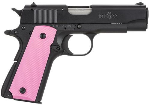 """Browning 1911-22 Black/Pink Composite 22LR 3.6"""" Barrel, Pink Synthetic Grips, 10rd"""
