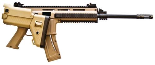 "ISSC Austria MK22 SCAR Rifle, 22LR, Desert Tan, 16"" Barrel, 22 Rd Mag"