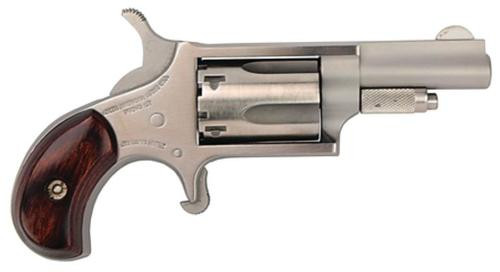"NAA 22LR Mini-Revolver 22LR 1.62"" 5rd Rosewood Grip Stainless"