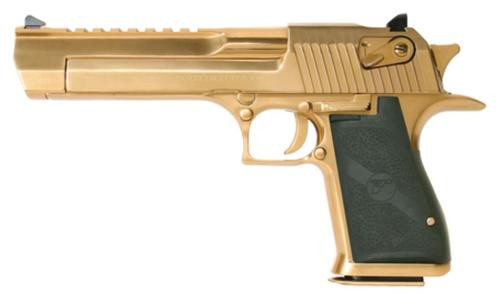 "Magnum Research Desert Eagle Mark XIX 50AE 6"" Barrel, Black Synthetic Titanium Gold, 7rd"