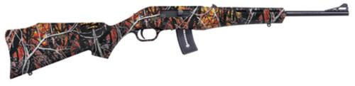 """Mossberg Blaze .22 Long Rifle 16.5"""" Barrel Blue Finish Adjustable Sights Wildfire Camouflage Synthetic Stock 10rd"""