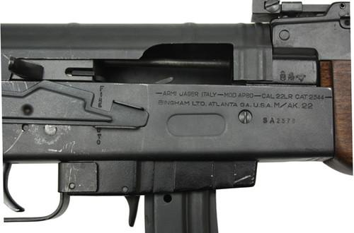 ARMI JAGER ITALIAN AK-22  22LR MACHINE GUN, Transferable
