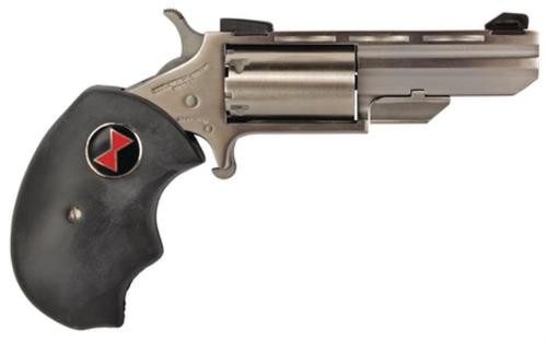 """NAA 22 Black Widow 22 Mag 2"""" 5rd Fixed Sight Black Rubber Grip Stainless"""