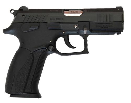 """Bersa S/D 9mm 3.7"""" Barrel, Black Interchangeable Backstrap Grip Black Pistol, 15rd"""