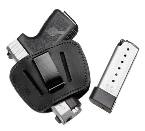"""KAHR CM9 Concealed Carry Package 9mm 3"""" Barrel Leather Holster, 1 6rd & 1 7rd Mag"""