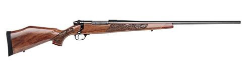 "Weatherby Mark V Lazermark, .300 Wby Mag, 26"", Blued, Laser Carved Walnut Stock"