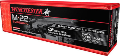 Winchester M-22 Subsonic 22LR, 45gr, Lead Round Nose, 100rd/Box