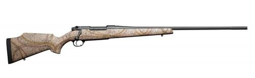 """Weatherby Mark V Outfitter, .300 Wby Mag, 28"""" Fluted, Armor Black Cerakote, Tan Composite Stock"""