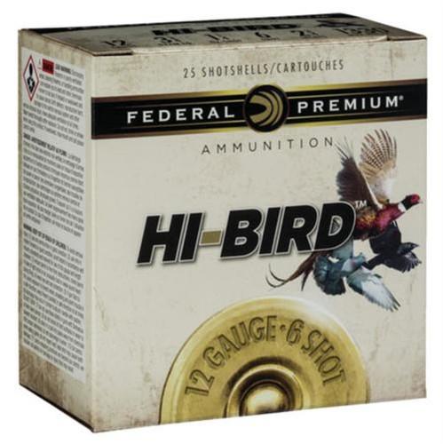 "Federal Hi-Bird Game Load 12 Ga, 2.75"", 1-1/8oz, 6 Shot, 25rd/Box"