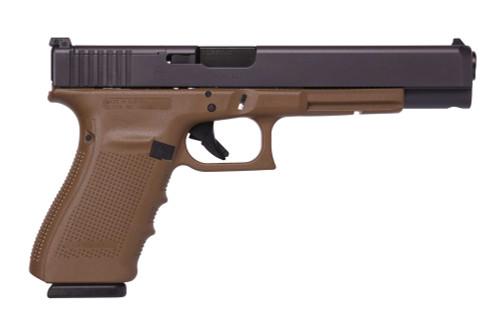 """Glock 40 Gen4 MOS, 10mm, 6"""" Barrel, Dark Earth, Optic Ready, 3x 15rd Mags"""