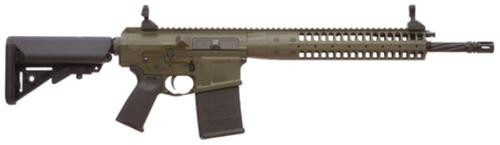 "LWRC REPR 7.62 NATO 16"" Spiral Fluted BarrelGeissele Trigger Upgrade Patriot Brown 20rd Mag"