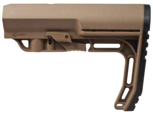 Mission First Tactical Battlelink Minimalist Stock Military, Mil Spec Size 1.148 Diameter Receiver Extensions, Scorched Dark Earth