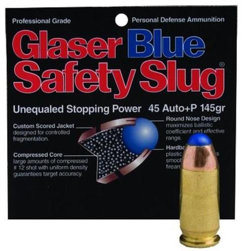 Cor-Bon Glaser Safety Slug Blue 45 ACP 145gr, Round Nose, 6 Pack