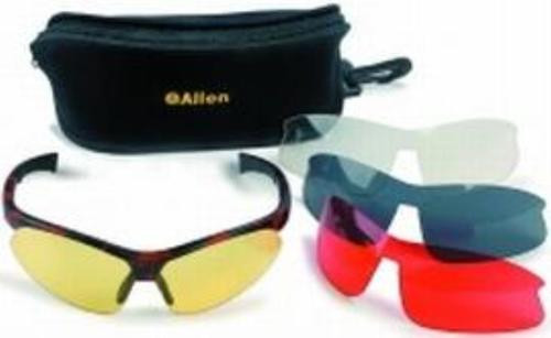 Allen Blade Style Glasses Combo 4 Lens (Clear, Red, Yellow, Smoke)