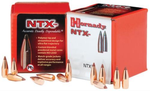 Hornady Lead Free Rifle Bullet .20 Caliber .204 Diameter 24gr, NTX, 100/Box