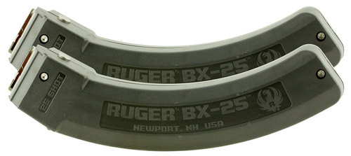 Ruger 10/22 Magazine Value Pack BX-25, 2 Mags 25rd Each, Also SR-22/Charger/American and 77/22