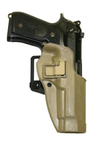 Blackhawk CQC Serpa Tactical Holster, 1911, Coyote Tan, Right Handed