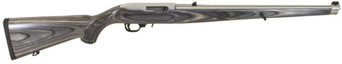 "Ruger 10/22 Semi-Automatic 22LR 18.5"" Black Laminate Mannlicher Stock, SS Barrel"