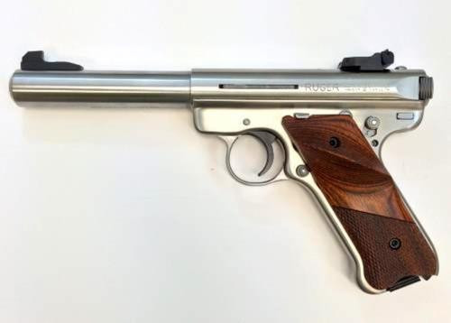 """Ruger MK III 22LR, SS, 5.5"""", Engraved, USA Shooting Team"""