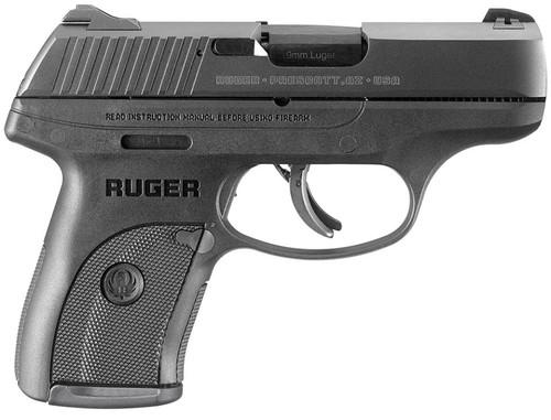 """Ruger LC9S Standard 9mm, 3.12"""" Barrel, 3-Dot, Black Polymer Grip, 7rd Mag"""