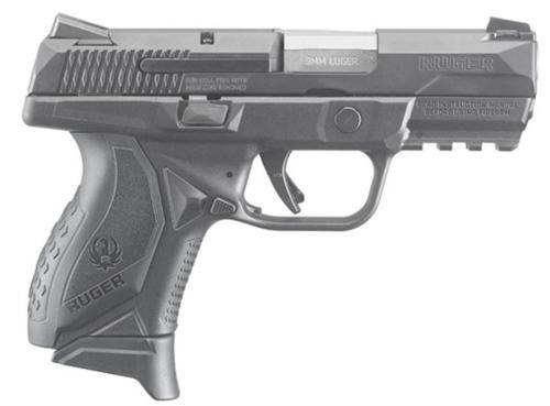 "Ruger American Compact Pro Model 9mm Black 3.55"" SS Barrel 10 Rd Mag"