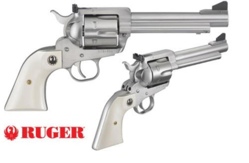 """Ruger Blackhawk Flattop, .45LC / 45 ACP, 5.5"""", Stainless"""