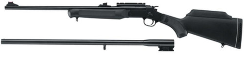 """Rossi Braztech Interchangeable Barrels on One Action 12 Ga 28"""" Blued Barrel and 22LR 23"""" Blued Barrel on Synthetic Stock"""