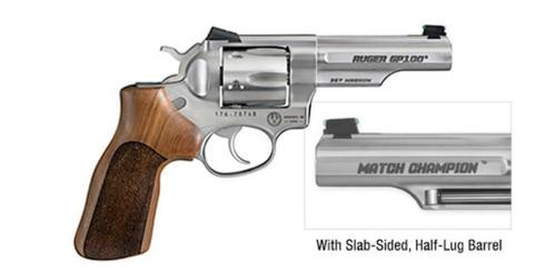 """Ruger GP100 Match Champion Double Action Revolver .357 Magnum 4"""" Barrel SS"""