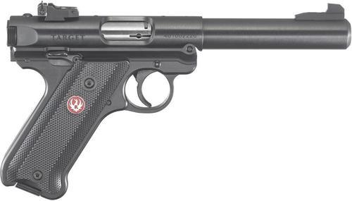"""Ruger Mark IV Pistol, 22LR, 5.5"""", Black Synthetic, Blued, 10rd, Adjustable Sights"""