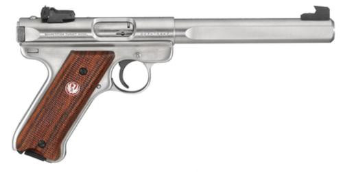 """Ruger Mark III 678GC Competition Model 22 Long Rifle 6.875"""" Slab Bull Barrel, Stainless Finish, 10 Round"""