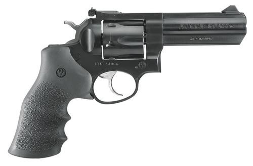 "Ruger GP100 357 Mag Alloy Steel 4""Heavy Barrel, Hogue Grip, 6 Shot"