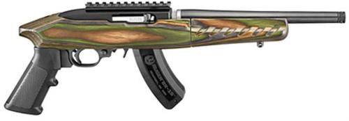 "Ruger Charger Takedown Pistol, 22LR, 10"", Green Mtn. Laminate Stock, 15 Rd"
