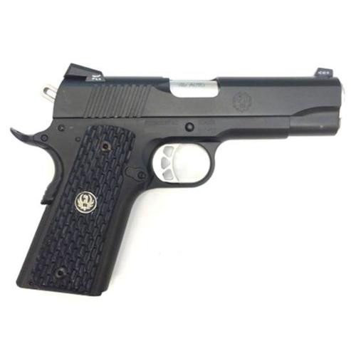 Ruger SR1911 Commander 45 ACP Black Nitride Finish, 7 Rd Mag