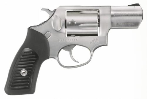 """Ruger SP101 357 Mag, 2.25"""", Rubber Grip, Satin Fixed Sights, Stainless, 5rd"""