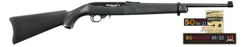 """Ruger 10/22 50th Anniversary Collector's Series 22LR 18.5"""" Fiber Optic Sight, 10 Rd Mag"""