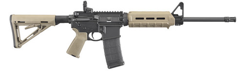 "Ruger AR-556 Carbine AR-15, 16"" Barrel, Flat Dark Earth, With Magpul Accessories, 30Rd"