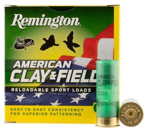 "Remington American Clay & Field Sport Loads, 12 Ga, 2.75"", 1oz, 9 shot, 25rd/Box"